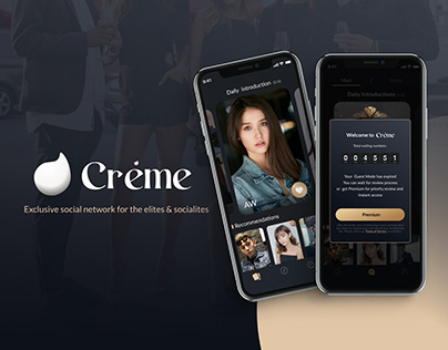 Private Social App - Creme