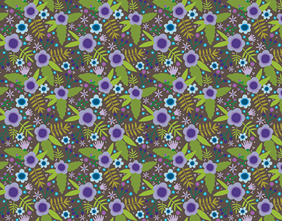 Woodland Flowers Repeat Pattern