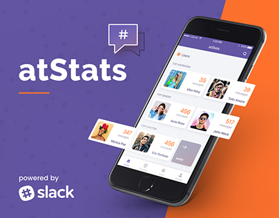 atStats - Interact with friends on Slack in a new way
