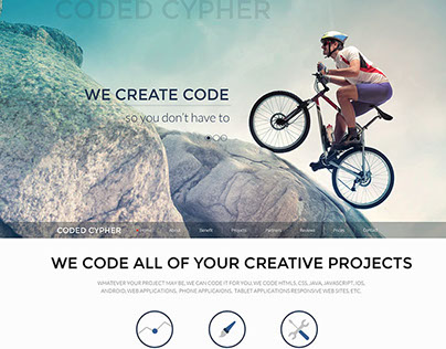 Coded Cypher One Page Web Site