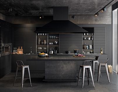 Black Kitchen CGI