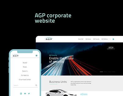 AGP glass, Website UI UX