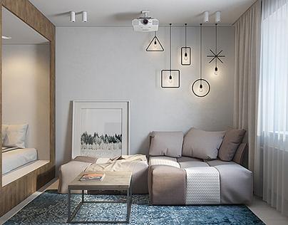 Small apartment, 29 m2 in Saint-Petersburg, 2015.