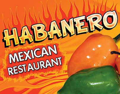 Habanero Restaurant Menu Design (Freestyle Art)