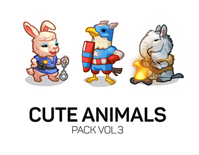 Cute Animals - Spine animations pack vol.3
