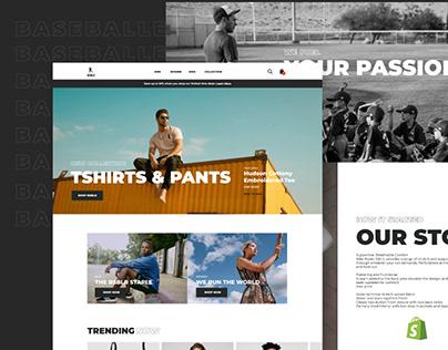 Shopify Ecommerce UI Design