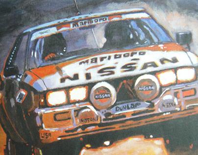 Acrylic race car