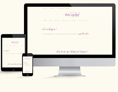 Rebarnding: Kara Rajchel Blog Design