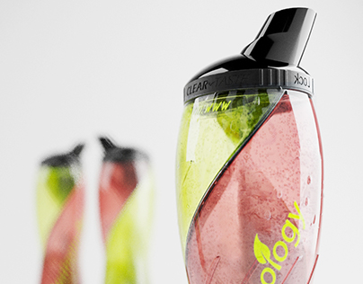 bottle design & rendering