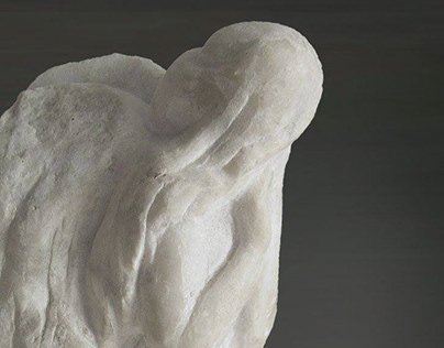 SADNESS ANGEL marble sculptor HALINA SHAMARA
