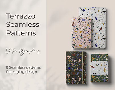 Terrazzo pattern collection for packaging design