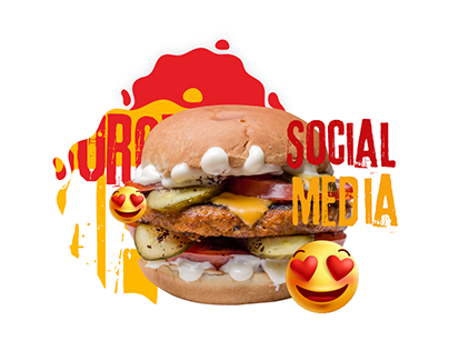 Arab-Burger ' Social Media Designs '