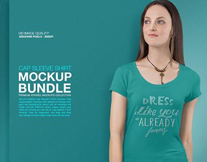 Mockup Bundle | Women's T-Shirt