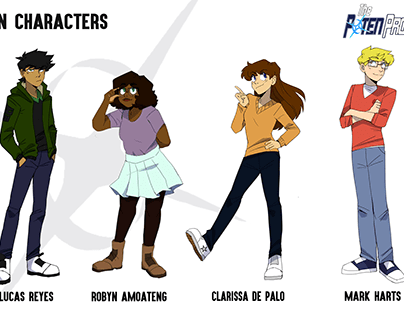 The Poten Project- Character designs