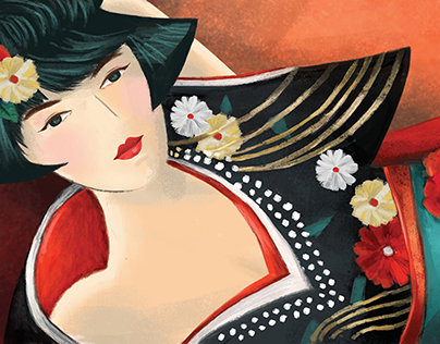 A Japanese 'flapper' girl blossoming