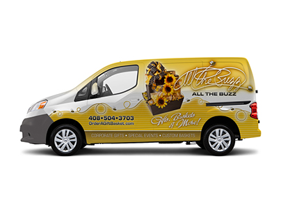 All the Buzz van wrap design