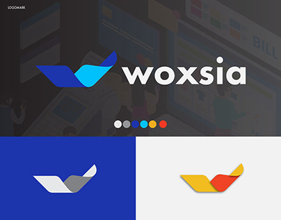 woxsia, modern w logo design