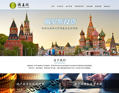 Russia Investment Homepage Design