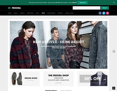 Fedora - Responsive, Multi-purpose HTML5 template