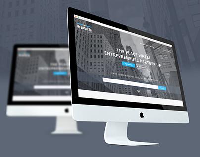 """Website """"We partner up"""" startup for business partner"""
