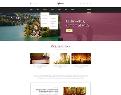 Iglesia PSD Template. Free to download.