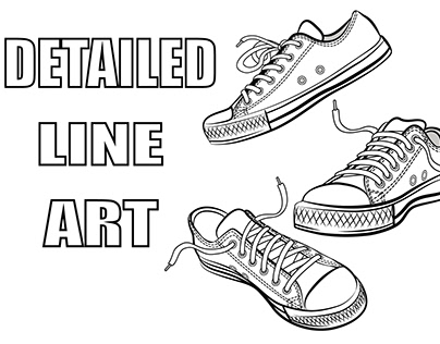 Detailed Vector Line Art of products and illustrations