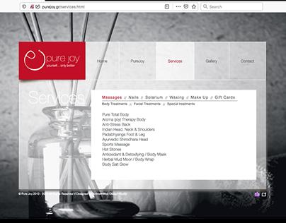Web Design | Pure Joy Spa / pure version