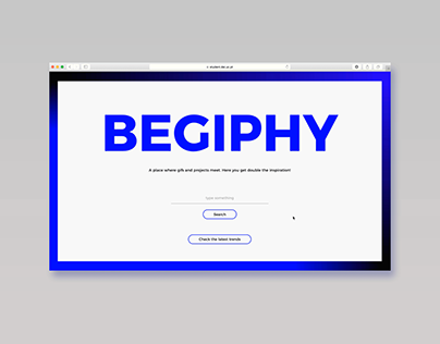 Begiphy [Behance+Giphy]