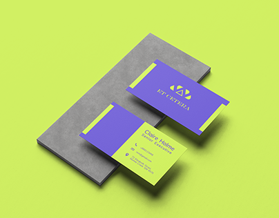 Matte Business Card with Washed Down Neon Colors
