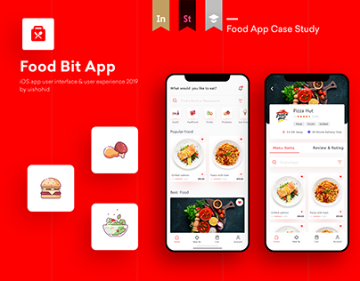 Food Bit App -UI UX design case study