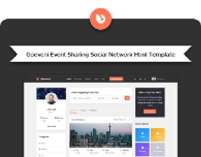 Goeveni Event Sharing Social Network Html Template