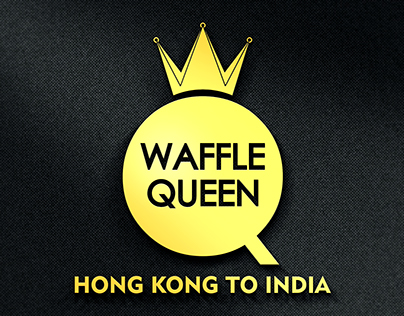 Waffle Queen Logo Design