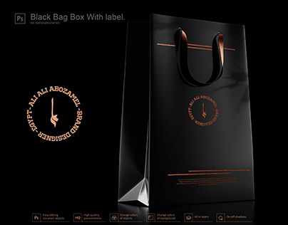 Black Bag Box With label.,3 COLORS ENABLED