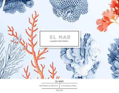 El Mar, Exquisite Ocean elements and patterns!