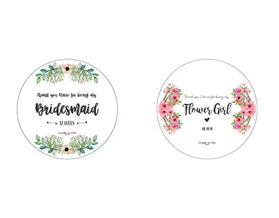 Client - Wedding Badges