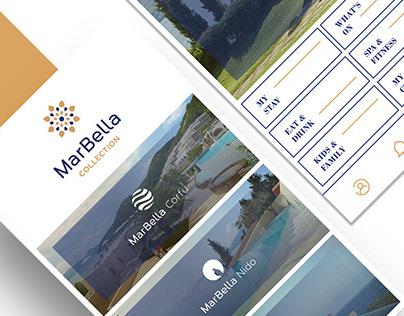Marbella Collection mobile app | UI UX Design