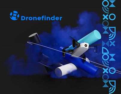 Dronefinder / Brand identity + mobile app