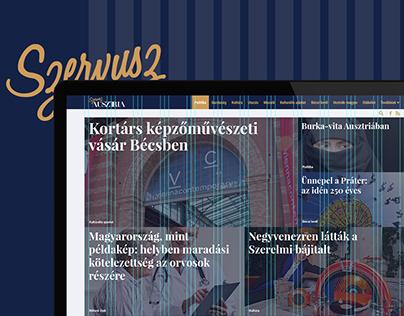 Szervusz Ausztria logo and website redesign