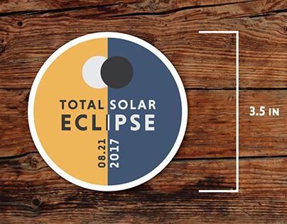 Total Solar Eclipse Sticker Designs