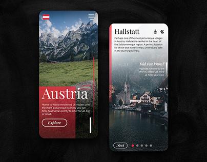 Visit Austria: Mobile UI Concept