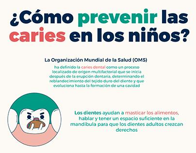 Infografía: ¿Cómo prevenir las caries en los niños?