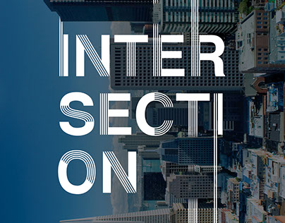Intersection - Stripes Font