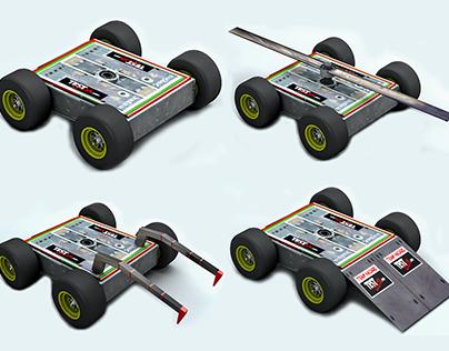 Hazard Fighting Robot Low-poly 3D model