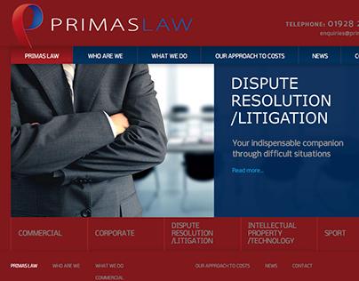 Primas Law Website