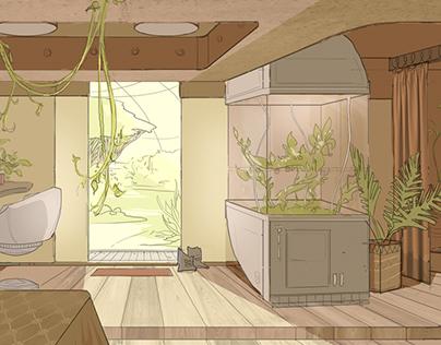 herbalists room concept
