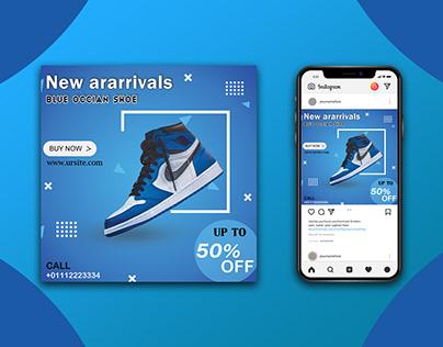 Social media Banner for shoe