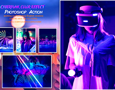 CyberPunk Color Effect PS Action