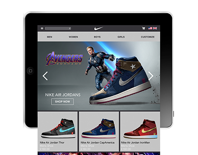 Website Design - Nike Avengers