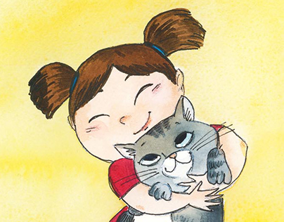 A Girl with her Cat