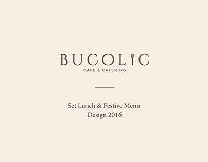 Bucolic Cafe & Catering 2016 | Menu Design